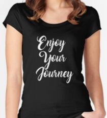 Enjoy The Journey Travel T-Shirt Design Women's Fitted Scoop T-Shirt