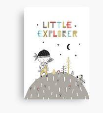 Little Explorer  Canvas Print