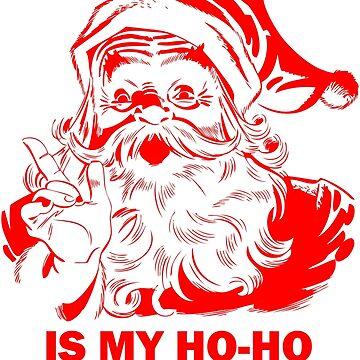 Vintage Retro Christmas Gifts. Santa is my Ho-Ho-Homie by Mia-Kara