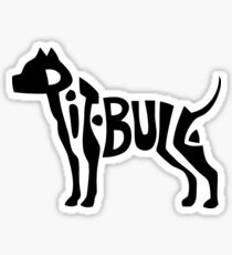Pitbull Text Art Sticker
