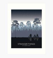 Stranger Things Tribute Art Art Print