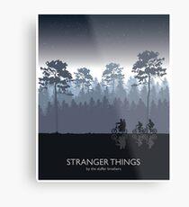 Stranger Things Tribute Art Metal Print