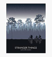 Stranger Things Tribute Art Photographic Print
