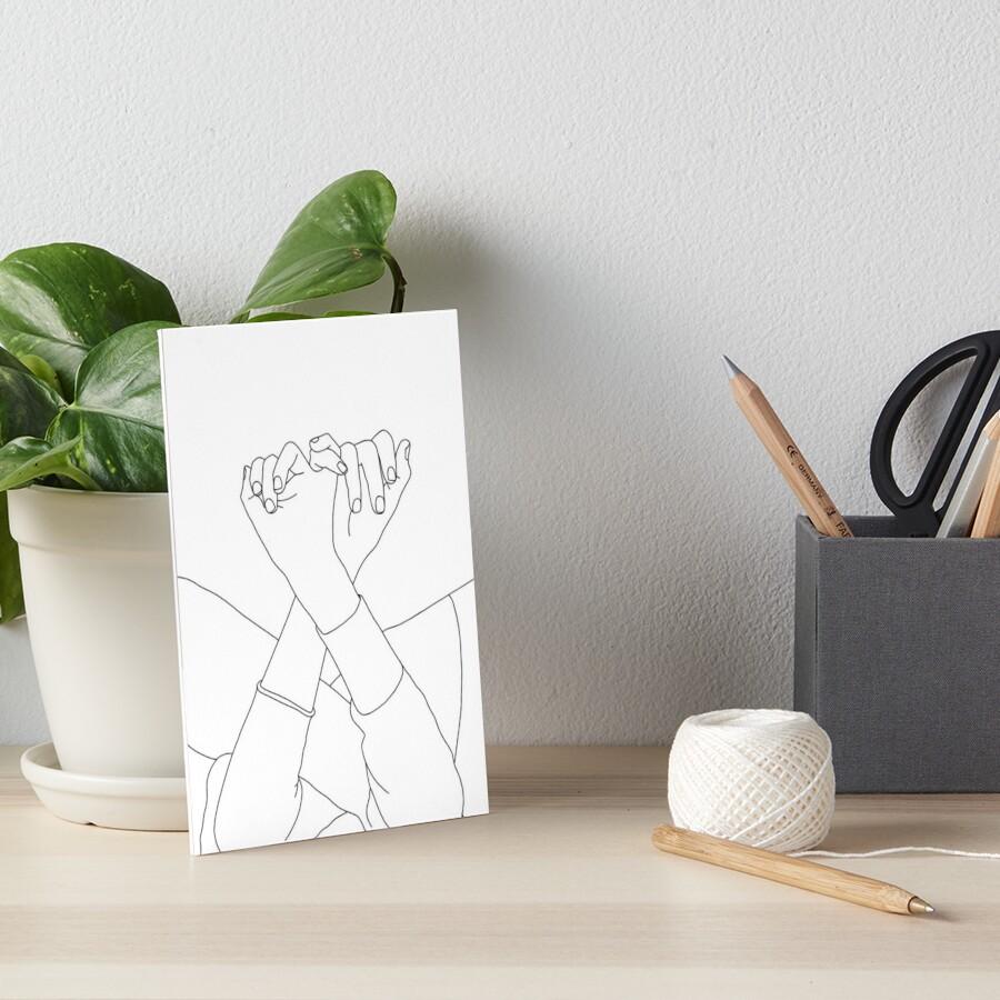 Verbundene Fingerlinie, die Illustration zeichnet - Aisha Galeriedruck