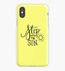 Step into the Sun Yellow iPhone Case