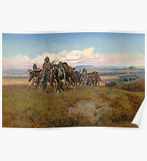 In the Enemy's Country by Charles Marion Russell Poster