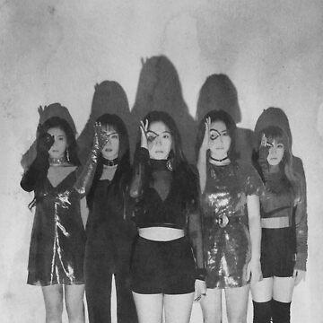 """Red Velvet """"Perfect Velvet"""" B&W Watercolor  by 58mm"""