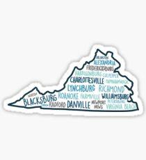 Virginia cities Sticker