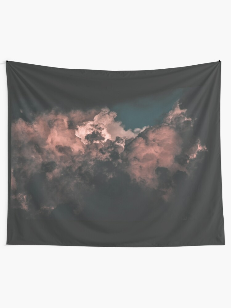 Alternate view of Red Clouds Tapestry