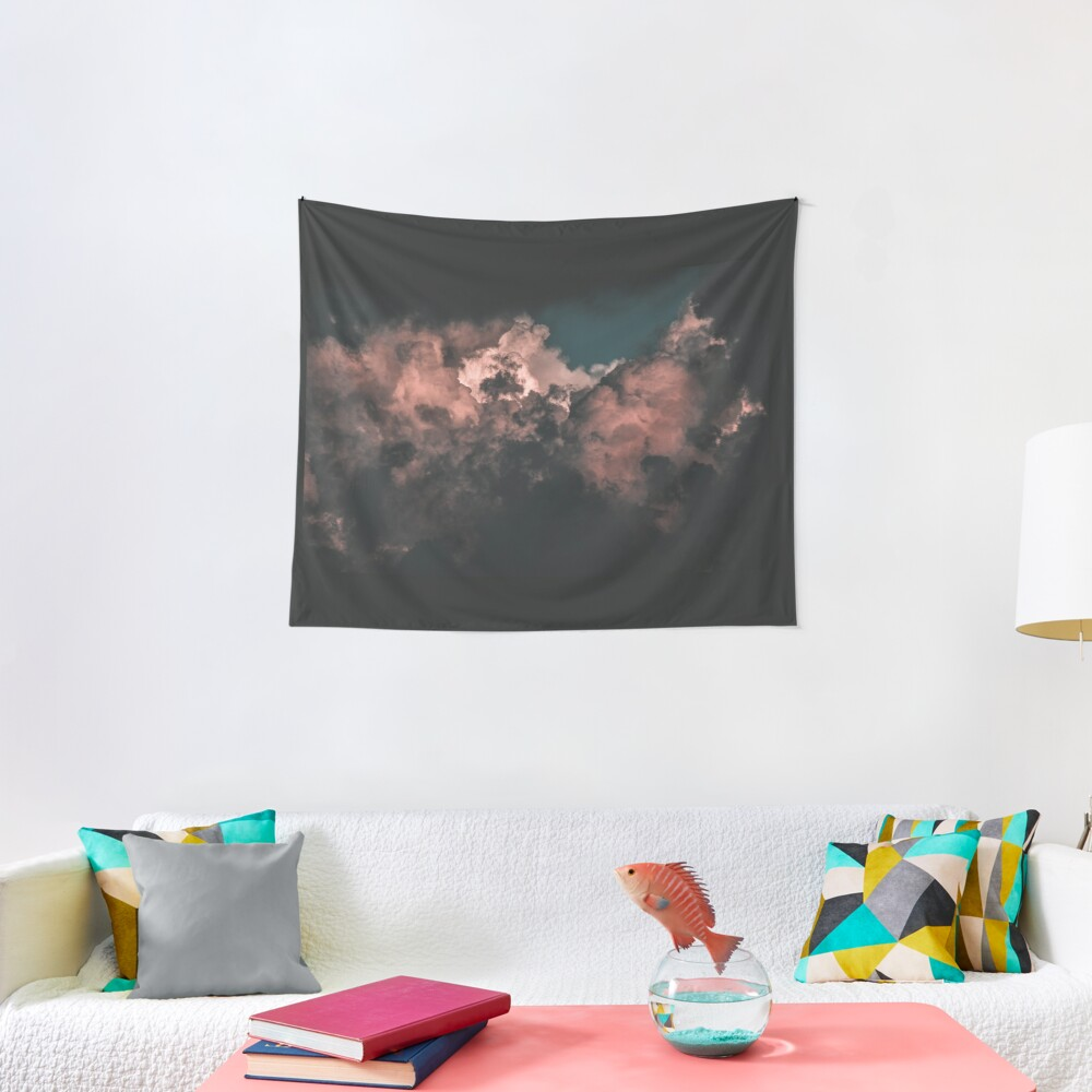 Red Clouds Tapestry