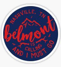 Belmont University - Style 51 Sticker