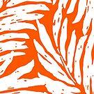 Kahanu Garden Hawaiian Palm Leaves - Tangerine by DriveIndustries