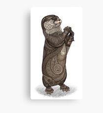 Infatuated Otter Canvas Print