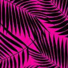 Kona Palms Hawaiian Leaf - Magenta & Black by DriveIndustries