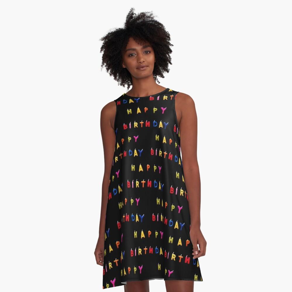 Bday pat.! tiny A-Line Dress Front