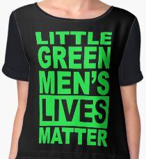 LITTLE GREEN MENS LIVES MATTER 1 Women's Chiffon Top