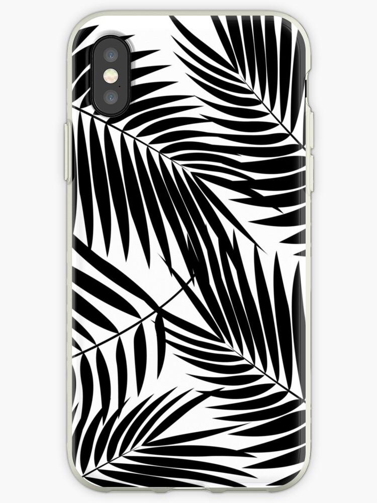 Kona Palms Hawaiian Leaf - White & Black by DriveIndustries