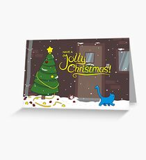 Good Cat Christmas Greeting Card