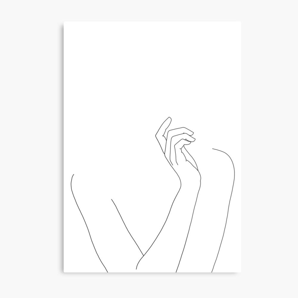 Körperzeichnung der Frau - Alma Metallbild