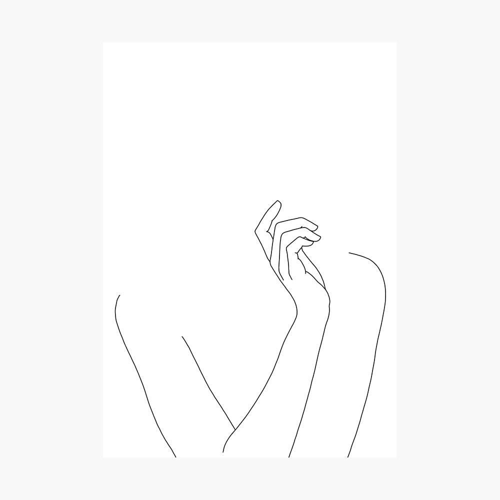 Körperzeichnung der Frau - Alma Fotodruck
