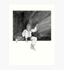 Jester B&W Art Print