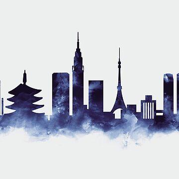 Tokyo Skyline by MonnPrint