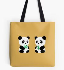 Two Pandas Tote Bag