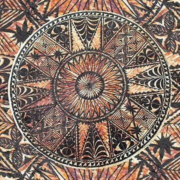 Kapa Primitive Hawaiian Tattoo Tapa by DriveIndustries