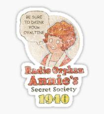 Radio Orphan Annie's Secret Society (A Christmas Story) Sticker