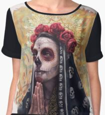 Catrina - The Skull Girl Women's Chiffon Top