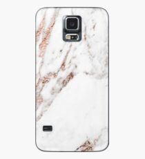 Rose gold vein marble Case/Skin for Samsung Galaxy