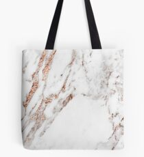 Rose gold vein marble Tote Bag