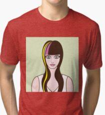 Girl with highlights Tri-blend T-Shirt