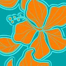 Kailua Hibiscus Hawaiian Engineered Floral by DriveIndustries