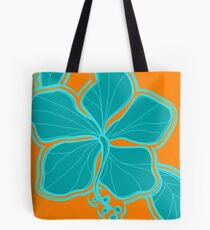 Kailua Hibiscus Hawaiian Engineered Floral Tote Bag