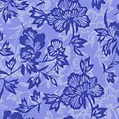 Iwalani Vintage Hawaiian Floral - Lilac and Purple by DriveIndustries