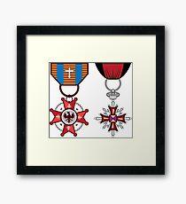 Military medals Framed Print