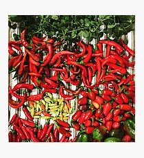 So many chiles... Photographic Print