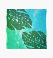 Maikai Hawaiian Monstera Leaf Tie-Dye Blend - Green & Turq Scarf