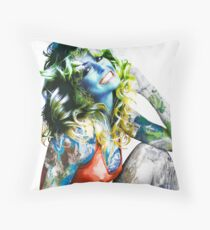 "Title: ""Proud Of What I Have"", Pop Culture Sex Symbol Inspired, Earth Girl Throw Pillow"
