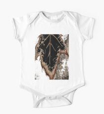 discolored leaf Short Sleeve Baby One-Piece