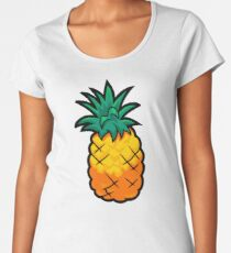 Cartoon Pineapple - Funny Club Penguin Pineapple Parody Women's Premium T-Shirt