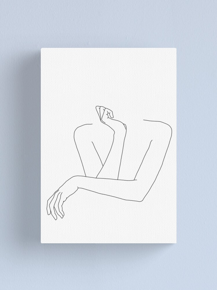 Alternate view of Folded arms line drawing - Anna Canvas Print