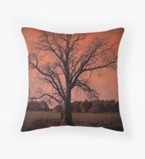 'LINES, SHADOWS, SKY @TREE...!' Throw Pillow