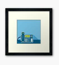 Office Phone Framed Print