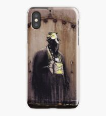 old chemical area, graffiti gas mask iPhone Case