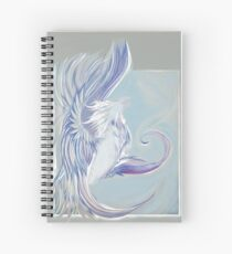 Caladrius, a mythical bird known for taking someone's sickness away then healing itself. Spiral Notebook