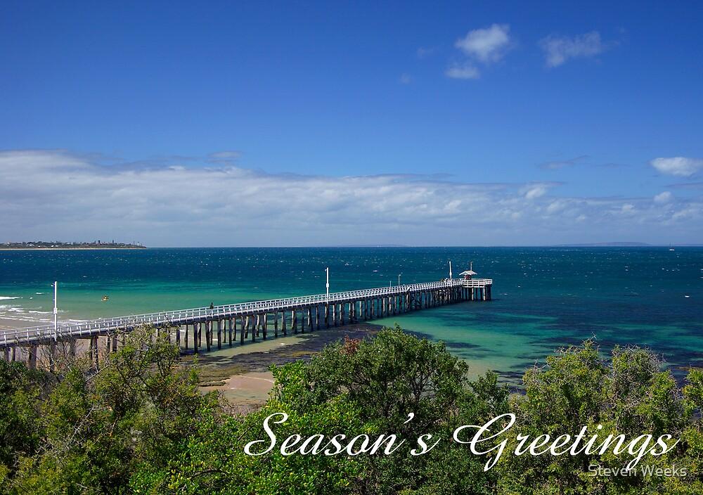 Queenscliff Pier,  Season's Greetings by Steven Weeks
