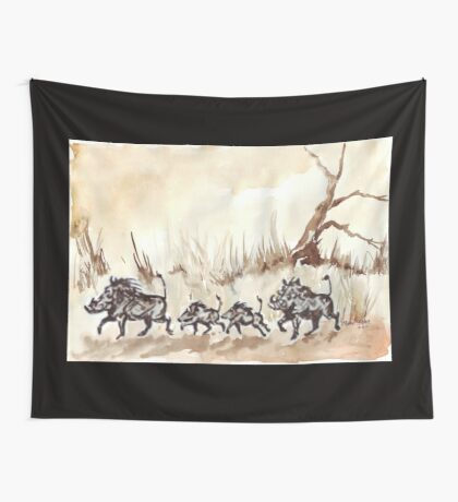 An African scene Wall Tapestry