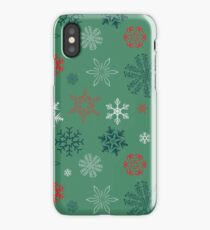 Snowflakes seamless vector pattern for Christmas packaging, textiles, wallpaper vector illustration. iPhone Case/Skin